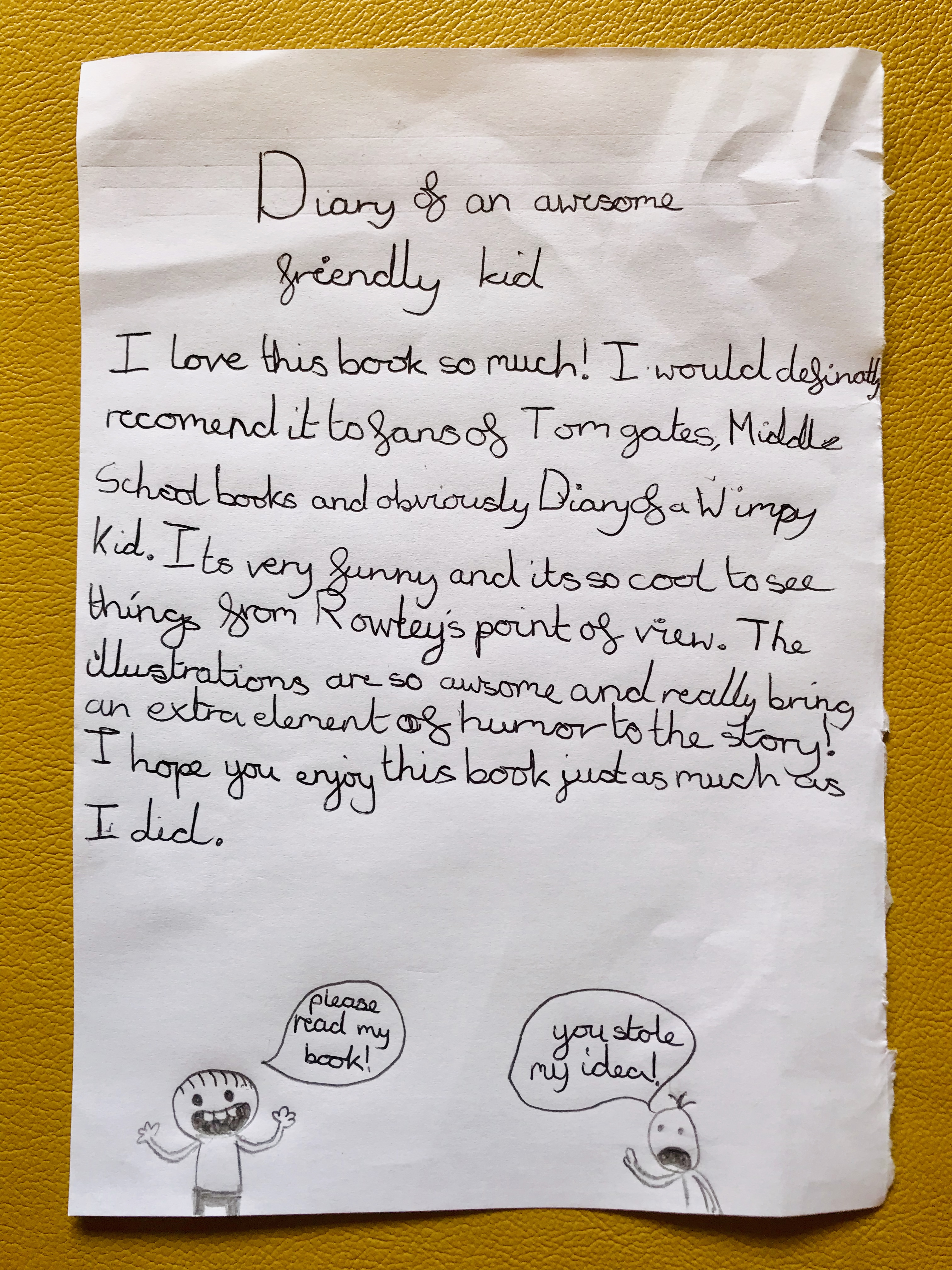Book Review: Diary of an Awesome Friendly Kid